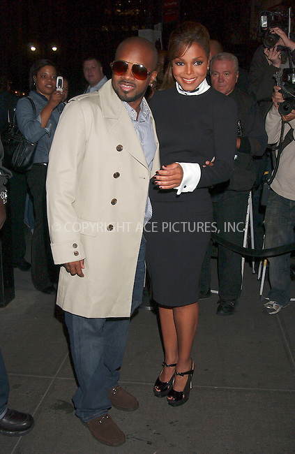 WWW.ACEPIXS.COM . . . . .....October 9, 2007. New York City,....Musician Jermaine Dupri and actress Janet Jackson arrive at the 'Why Did I Get Married' screening at the Bryant Park Hotel...  ....Please byline: Kristin Callahan - ACEPIXS.COM..... *** ***..Ace Pictures, Inc:  ..Philip Vaughan (646) 769 0430..e-mail: info@acepixs.com..web: http://www.acepixs.com