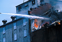 Fire in an industrial building, smoke,15-3000, 08-3500. Buffalo New York United States.