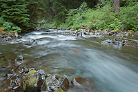 Sol Duc river in the Olympic National Park, Washington State