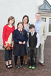 Shauna Mills and family at Donacarney NS Confirmation in The Star of the Sea Church...Photo NEWSFILE/Jenny Matthews.(Photo credit should read Jenny Matthews/NEWSFILE)....This Picture has been sent you under the condtions enclosed by:.Newsfile Ltd..The Studio,.Millmount Abbey,.Drogheda,.Co Meath..Ireland..Tel: +353(0)41-9871240.Fax: +353(0)41-9871260.GSM: +353(0)86-2500958.email: pictures@newsfile.ie.www.newsfile.ie.FTP: 193.120.102.198.