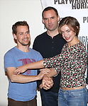 T.R. Knight, Danny Wolohan and Elvy Yost attend the 'Pocatello' Meet & Greet at Playwrights Horizons on October 21, 2014 in New York City.