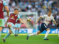 Burnley Ashley Westwood and Tottenham's Harry Winks during the Premier League match between Tottenham Hotspur and Burnley at White Hart Lane, London, England on 27 August 2017. Photo by Andrew Aleksiejczuk / PRiME Media Images.