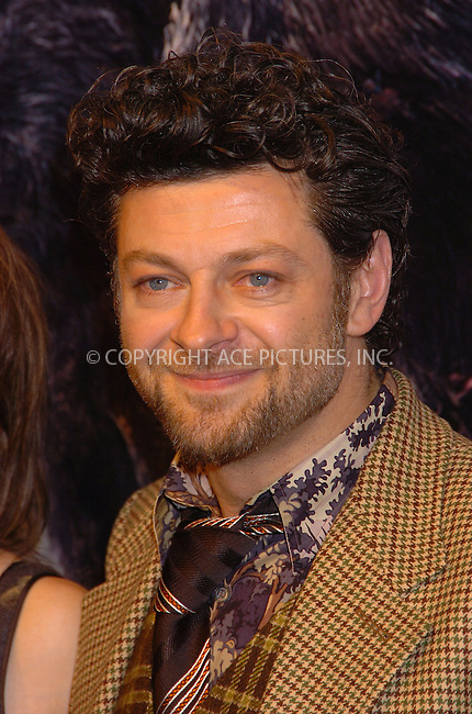 "WWW.ACEPIXS.COM . . . . .  ....NEW YORK, DECEMBER 5, 2005....Andy Serkis at the Universal Pictures ""King Kong"" Premiere.....Please byline: AJ Sokalner - ACEPIXS.COM.... *** ***..Ace Pictures, Inc:  ..Philip Vaughan (212) 243-8787 or (646) 769 0430..e-mail: info@acepixs.com..web: http://www.acepixs.com"