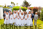 Making their First Holy Communion on Saturday were the pupils from Aghatubriud NS in St Josephs Church, Aghatubrid pictured here front l-r; Jake Moriarty, Cara McCrohan, Brian O'Connell, Síne O'Neill, Adam Walsh, Caoilinn, Lynch, Jason Corcoran, Ella Sheehan, Kevin O'Connor, Emma Fitzgerald, Stephen O'Sullivan, Laura Coyle, Siún Fitzgerald, David Murphy, Fintan O'Sullivan back l-r; Fr. Fergal Ryan & Canon Larry Kelly.
