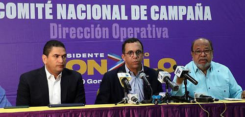 Miguel Medina, Andrés Navarro y Héctor Olivo.