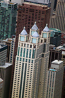 aerial photograph Chicago skyscrapers, Illinois