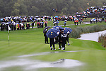 Water on the 3rd Green in the opening fourballs at the 2010 Ryder Cup, Celtic Manor, Newport, Wales, Friday 1st October 2010..Picture Manus O'Reilly/www.golffile.ie