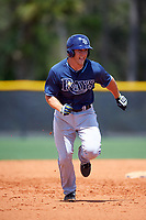Tampa Bay Rays Joe McCarthy (31) during a minor league Spring Training game against the Boston Red Sox on March 23, 2016 at Charlotte Sports Park in Port Charlotte, Florida.  (Mike Janes/Four Seam Images)