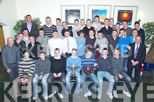 Winners - Munster U16 Inter Division Hurling Champions and All Ireland U16B Champions along with coaches having a wonderful time at the Kerry U16 Hurling Awards night held in  The Ballyroe Heights Hotel on Saturday night