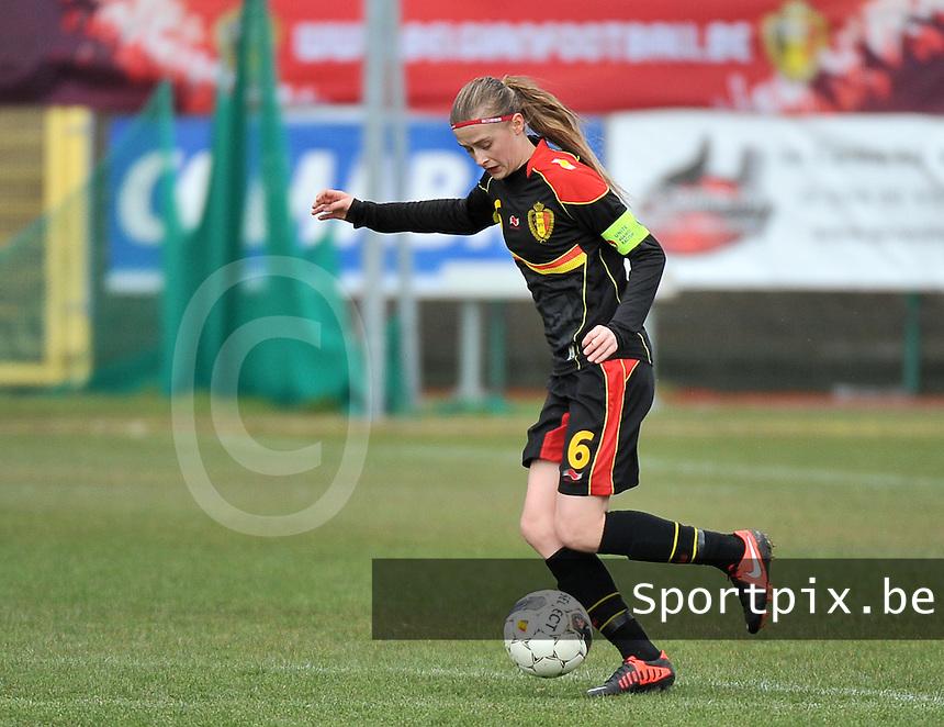 Russia U19 - Belgium U19 : Julie Biesmans (6) .foto DAVID CATRY / Nikonpro.be