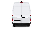 Straight rear view of a 2019 Mercedes Benz Sprinter-Cargo-Van Base 4 Door Cargo Van stock images