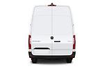 Straight rear view of a 2019 Mercedes Benz Sprinter-Cargo-Van Base 4 Door Cargo Van stock images
