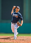 14 March 2016: Atlanta Braves pitcher Carlos Torres, on the mound during a Spring Training pre-season game against the Tampa Bay Rays at Champion Stadium in the ESPN Wide World of Sports Complex in Kissimmee, Florida. The Braves shut out the Rays 5-0 in Grapefruit League play. Mandatory Credit: Ed Wolfstein Photo *** RAW (NEF) Image File Available ***