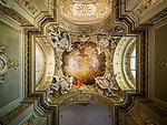 Ceiling, lateral chapels, Basilica di Sant'Apollinare Nuevo, Ravenna, Italy