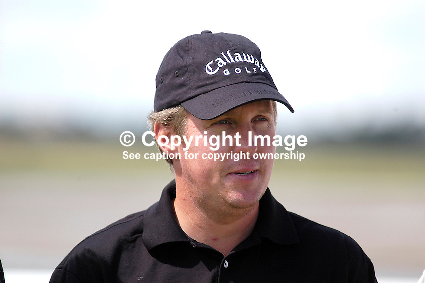 Pierre Fulke, professional golfer, Sweden. Taken at Nissan Irish Open, Portmarnock Golf Club, Ireland, in July 2003. Ref: 200307232674. ..Copyright Image from Victor Patterson, 54 Dorchester Park, Belfast, UK, BT9 6RJ..Tel: +44 28 9066 1296.Mob: +44 7802 353836.Voicemail +44 20 8816 7153.Skype: victorpattersonbelfast.Email: victorpatterson@mac.com.Email: victorpatterson@ireland.com (back-up)..IMPORTANT: If you wish to use this image or any other of my images please go to www.victorpatterson.com and click on the Terms & Conditions. Then contact me by email or phone with the reference number(s) of the image(s) concerned.