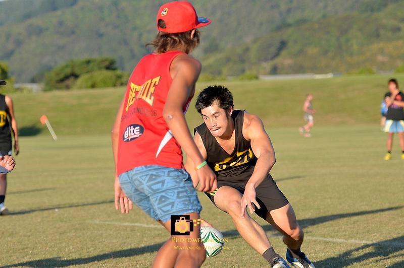 Description/Caption:<br /> Hutt Park Senior Touch Mixed/Open Playoff &amp; Final at Hutt Park, Lower Hutt, New Zealand on Monday 25 February 2013.<br /> Photo by Masanori Udagawa.<br /> www.photowellington.photoshelter.com