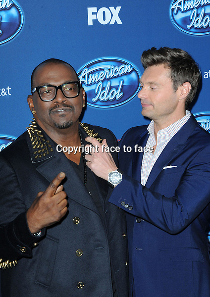 Randy Jackson and Ryan Seacrest at The American Idol Premiere Event at Royce Hall UCLA, in Westwood, California, 09.01.2013...Credit: MediaPunch/face to face..- Germany, Austria, Switzerland, Eastern Europe, Australia, UK, USA, Taiwan, Singapore, China, Malaysia and Thailand rights only -