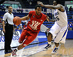 February 24, 2010:  Utah guard, Carlon Brown (15), during Mountain West Conference action between Utah and Air Force at Clune Arena, U.S. Air Force Academy, Colorado Springs, Colorado.  Utah defeats Air Force 54-43.