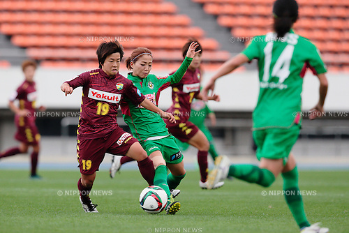 (L to R) <br /> Nodoka Hosaka (Jef Ladies), <br /> Natsuko Hara (Beleza), <br /> OCTOBER 31, 2015 - Football / Soccer : <br /> Plenus Nadeshiko League 2015 <br /> between NTV Beleza 2-0 Jef Chiba Ladies <br /> at Komazawa Olympic Park Stadium, Tokyo, Japan. <br /> (Photo by AFLO SPORT)
