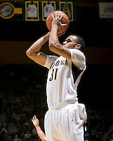 Emerson Murray of California shoots the ball during the game against UC Irvine at Haas Pavilion in Berkeley, California on November 11th, 2011.  California defeated UC Irvine, 77-56.
