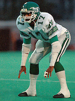 Trent Bryant Saskatchewan Roughriders 1986. Photo F. Scott Grant