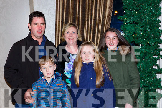 Roddy, Tadhg, Anna Ciara and Aoife O'Donoghue at the Muckross Concert in the Killarney Oaks Hotel on Thursday night
