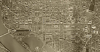 aerial photo map of Washington, DC, 1949