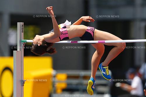 Yuki Watanabe, <br /> MAY 8, 2016 - Athletics : IAAF World Challenge Seiko Golden Grand Prix in Kawasaki <br /> Women's High Jump <br /> at Todoroki Stadium, Kanagawa, Japan. <br /> (Photo by Sho Tamura/AFLO SPORT)