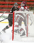 Dane Cooper (Brown - 23), Colin Blackwell (Harvard - 63) - The Harvard University Crimson defeated the Brown University Bears 4-3 to sweep their first round match up in the ECAC playoffs on Saturday, March 7, 2015, at Bright-Landry Hockey Center in Cambridge, Massachusetts.