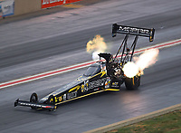 Jul 21, 2018; Morrison, CO, USA; NHRA top fuel driver Leah Pritchett during qualifying for the Mile High Nationals at Bandimere Speedway. Mandatory Credit: Mark J. Rebilas-USA TODAY Sports
