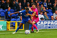 Michael Folivi of AFC Wimbledon and Jimmy Keohane of Rochdale AFC during AFC Wimbledon vs Rochdale, Sky Bet EFL League 1 Football at the Cherry Red Records Stadium on 5th October 2019