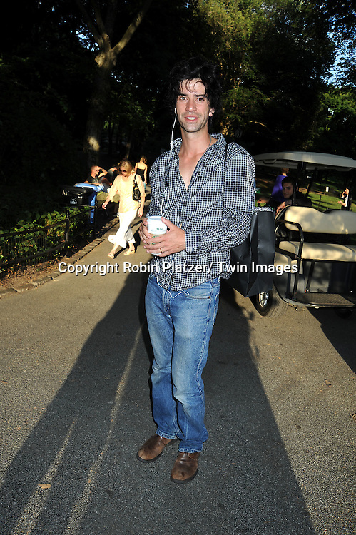 Hamish Linklater attending the Public Theatre's Annual  Gala on June 21, 2010 in Central Park in New York City.