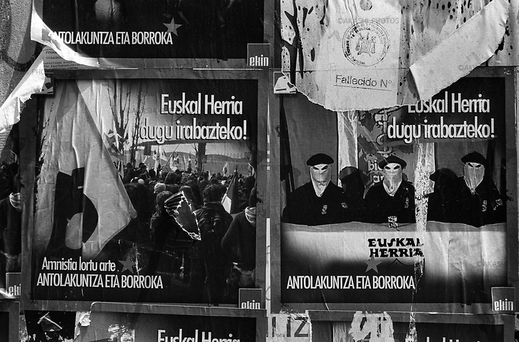 Posters of pro ETA in Vitoria, Spain.June 2007.©Toru Morimoto