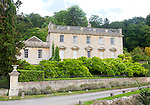 Classical frontage of Iford Manor house, near Bradford on Avon, Wiltshire, England, UK