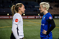 Seattle, WA - April 15th, 2017: Megan Rapinoe and Christie Rampone following a regular season National Women's Soccer League (NWSL) match between the Seattle Reign FC and Sky Blue FC at Memorial Stadium.