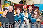 Gavin and Jacqui Lythgoe directors of Buddies Killarney who will be opening their new Pirates ship with Captain Jack Sparrow ext weekend l-r: Nikki Roberts, Dave Fitzpatrick, Sharon Fitzpatrick, Gavin and Jacqui Lythgoe ..