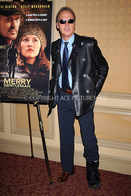 WWW.ACEPIXS.COM . . . . . ....April 20 2009, New York City....Actor Michael Keaton at a press conference for 'The Merry Gentleman' at The Regency Hotel on April 20, 2009 in New York City.....Please byline: KRISTIN CALLAHAN - ACEPIXS.COM.. . . . . . ..Ace Pictures, Inc:  ..tel: (212) 243 8787 or (646) 769 0430..e-mail: info@acepixs.com..web: http://www.acepixs.com