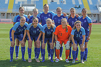 20190306 - PARALIMNI , CYPRUS : Team Finland pictured during a women's soccer game between Finland and South Africa , on Wednesday 6 March 2019 at the Tassos Markou Stadium in Paralimni , Cyprus.  This last game for both teams which decides for places 9 and 10 of the Cyprus Womens Cup 2019 , a prestigious women soccer tournament as a preparation on the Uefa Women's Euro 2021 qualification duels.PHOTO SPORTPIX.BE | STIJN AUDOOREN