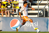 24 JULY 2010:  Brian Ching of the Houston Dynamo (25) during MLS soccer game between Houston Dynamo vs Columbus Crew at Crew Stadium in Columbus, Ohio on July 3, 2010. Columbus defeated the Dynamo 3-0.