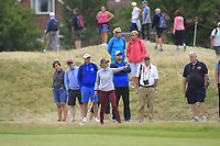 Jaye Marie Green (USA) on the 4th during Round 3 of the Ricoh Women's British Open at Royal Lytham &amp; St. Annes on Saturday 4th August 2018.<br /> Picture:  Thos Caffrey / Golffile<br /> <br /> All photo usage must carry mandatory copyright credit (&copy; Golffile | Thos Caffrey)