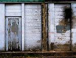 Derelict door and decaying wood