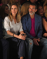 MIAMI, FL - MAY 31: Nicole Kimpel and Antonio Banderas are sighted at the Rene Ruiz Fashion Show during Miami Fashion Week at the Ice Palace Studios on May 31, 2018 in Miami Florida. <br /> CAP/MPI04<br /> &copy;MPI04/Capital Pictures