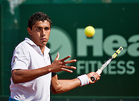 10-07-13, Netherlands, Scheveningen,  Mets, Tennis, Sport1 Open, day three, Thiago Monteiro (BRA)<br /> <br /> <br /> Photo: Henk Koster