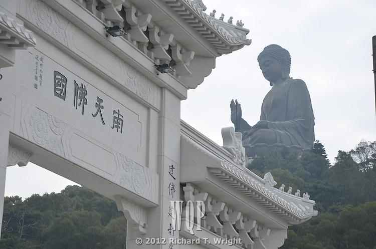 Tian Tan Buddha or the Big Buddha at Po Lin Monastry on Lantau Island is one of the main cultural attractions of Hong Kong.