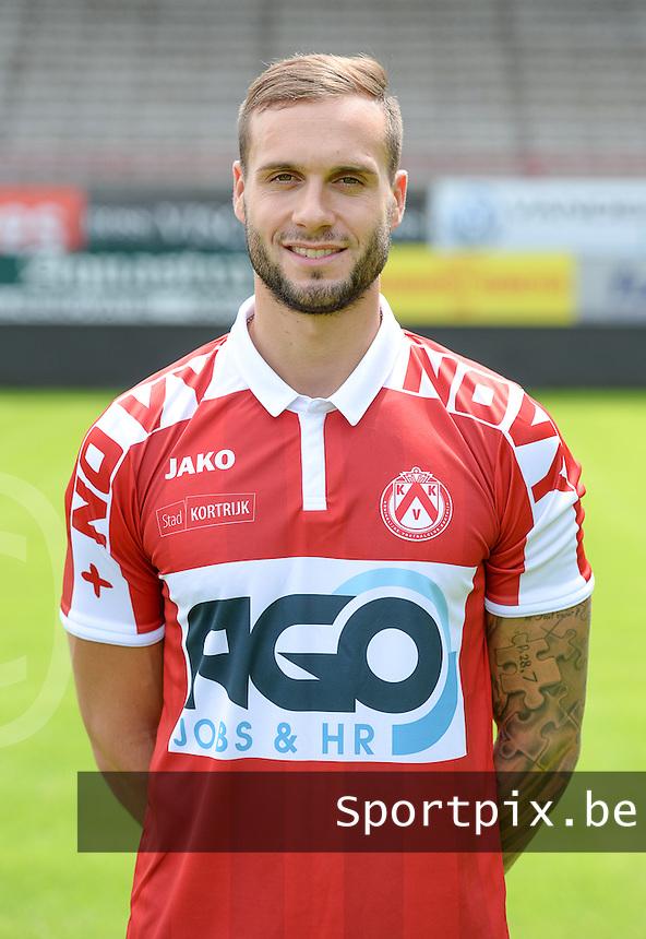 KV Kortrijk fotosessie seizoen 2016 - 2017  :  Maxime Chanot<br /> Foto David Catry / VDB / Bart Vandenbroucke