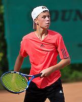 Netherlands, Dordrecht, August 03, 2015, Tennis,  National Junior Championships, NJK, TV Dash 35, <br /> Ids Waterbolk<br /> Photo: Tennisimages/Henk Koster