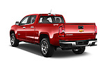 Car pictures of rear three quarter view of a 2017 Chevrolet Colorado LT Crew Cab Long Box 4 Door Truck Angular Rear
