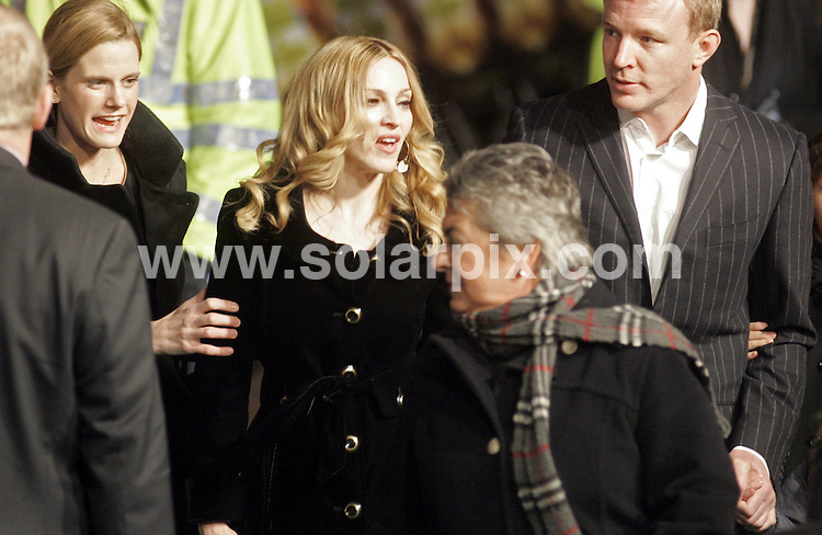 **ALL ROUND PICTURES FROM SOLARPIX.COM**.**NO UK NEWSPAPER PUBLICATION **UK MAGAZINE & SUPPLEMENT PUBLICATION ONLY** AND NO PUBLICATION IN FRANCE, SCANDINAVIA, AUSTRALIA AND GERMANY** .The pop singer Madonna and her husband Guy Richie have announced their divorce after 8 years of marriage today..This pic:..JOB REF: 7589- SFE       DATE: 15_10_08.**MUST CREDIT SOLARPIX.COM OR DOUBLE FEE WILL BE CHARGED* *UNDER NO CIRCUMSTANCES IS THIS IMAGE TO BE REPRODUCED FOR ANY ONLINE EDITION WITHOUT PRIOR PERMISSION*