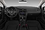 Stock photo of straight dashboard view of 2018 Volkswagen Golf-Variant Comfortline 5 Door Wagon Dashboard