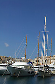 Yachts in the Grand Harbour Marina in Birgu (also known as Vittoriosa) in Malta
